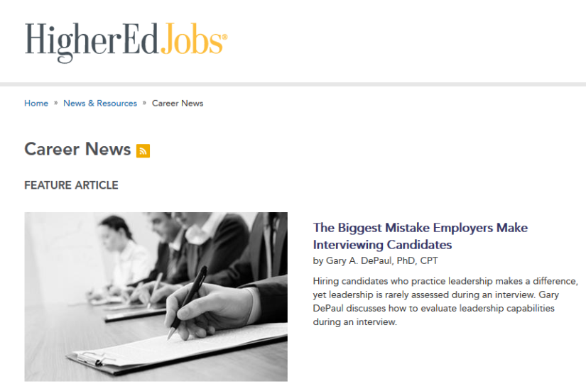 HigherEd Jobs Article forEmployers