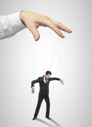 Directing others like a puppet master and a puppet